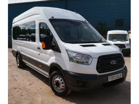 Ford Transit 2.2 460 L4H3 bus in White, 64,400 miles