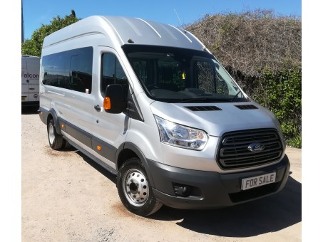 Ford Transit 2.2 460 L4H3 bus in Silver, 49,300 miles