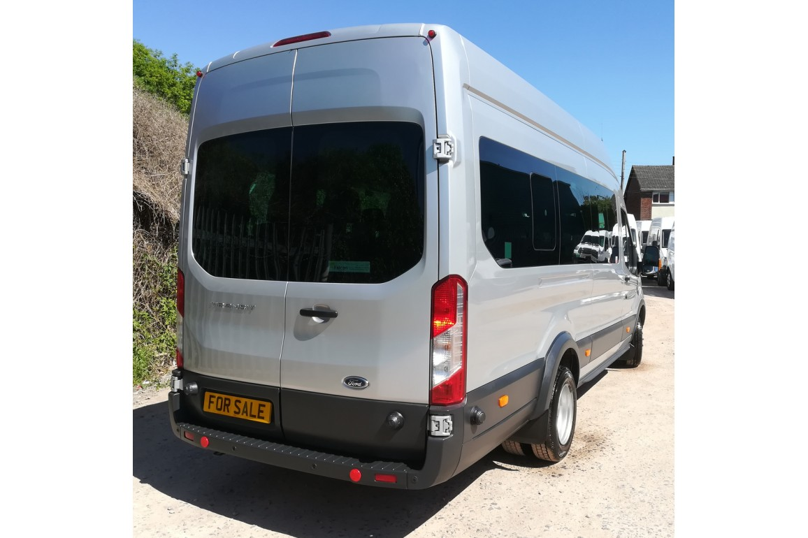 Ford Transit 460 L4H3 bus in Silver, 49,300 miles