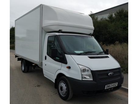 (91) Ford Transit 350EF 3.5T T/Lift in White, 160,000 miles