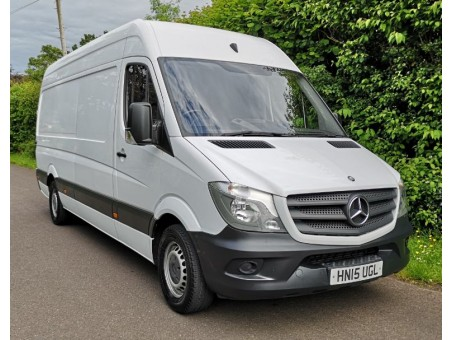 (1) 2015 plate Mercedes 313, 3.5T panel van, white, 121,000 miles