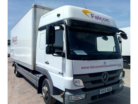 Mercedes Atego 816 7.5 box tail lift in White, 135,500 miles