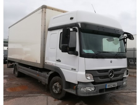 Mercedes Atego 816 7.5T box tail lift in White, 143,800 miles
