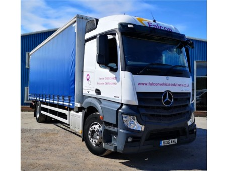 (1) (AMU) Mercedes Actros 1824L Curtainsider with Tail Lift