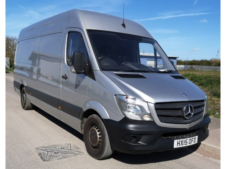 (1) 2015 plate Mercedes 313, 3.5T panel van, white, 154,000 miles.