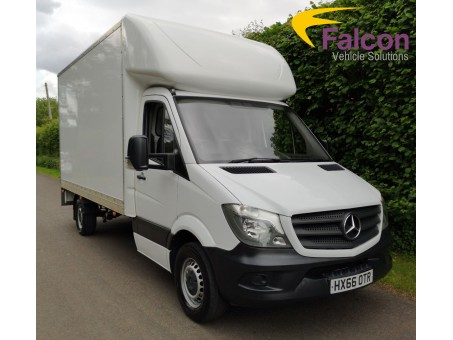 (1) 66 plate Mercedes 313 Luton box van with extremely low mileage, 42,000 miles