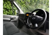 (1) 66 plate Mercedes 313 Luton box van with extremely low mileage, 42,000 miles Vans