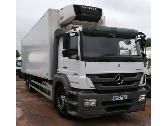 Mercedes Axor R 2533L 26T Fridge with tail lift in White, 275,500 miles Vehicle Sales