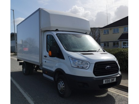 (1) 15 plate Ford Transit Luton, 350EF 3.5T, white, diesel, 148,000 miles