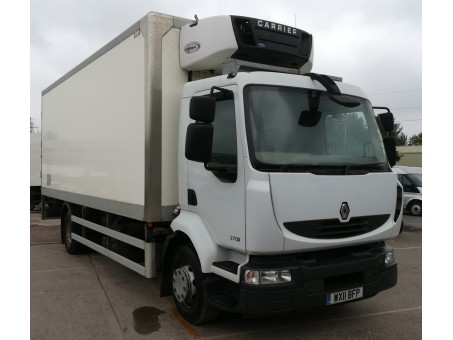 Renault Midlum 270.14E5 14T Fridge with tail lift in White, 160,377 miles