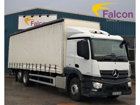 (1) (WRW) Mercedes-Benz Actros 2532 Curtainside with Tail-Lift