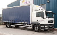 Curtain side lorry hire